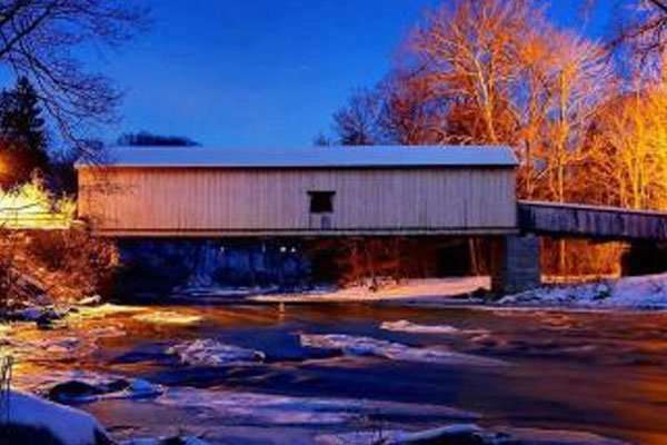 The Comstock Covered Bridge