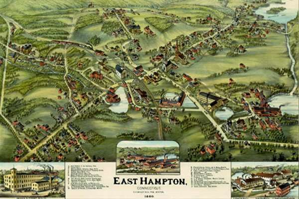 Map of East Hampton Connecticut