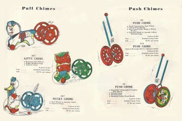 Gong Bell Pull Toys